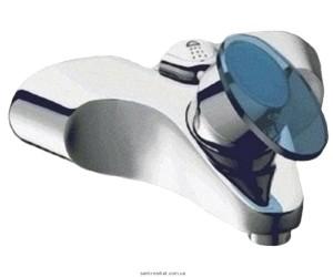 Смеситель однорычажный для ванны с коротким изливом Grohe коллекция Taron хром/синий 33524000IM