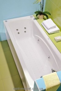 Ванна акриловая прямоугольная PoolSpa коллекция Klio 160х70х61 PWP66..ZN000000 + ножки