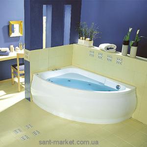 Ванна акриловая угловая PoolSpa коллекция Klio Asym 140х80х57 L PWAA6..ZS000000