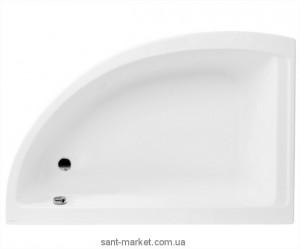 Ванна акриловая угловая PoolSpa коллекция Klio Asym 150х100х61 L PWAC2..ZN000000