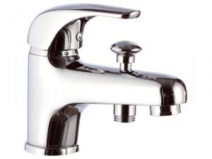 Смеситель для ванны однорычажный с коротким изливом Remer Rubinetterie Project хром/золото P04-С