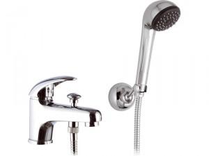 Смеситель однорычажнный на борт ванны с душем Remer Rubinetterie коллекция Giga Four хром G03-A