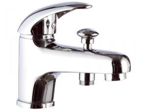 Смеситель для ванны однорычажный с коротким изливом Remer Rubinetterie Giga Four хром/золото G04-C