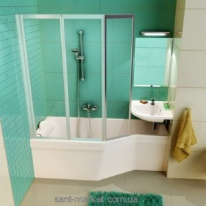 Ванна акриловая асимметричная угловая Ravak Be happy 150х75х61 R C151000000