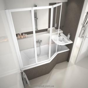 Ванна акриловая асимметричная Ravak Be happy 160х75х61 R C161000000