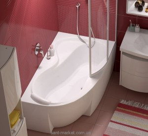 Ванна акриловая угловая асимметричная Ravak коллекция Rosa 95 150х95х47 R C561000000