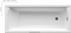 Ванна акриловая прямоугольная Ravak коллекция Classic 160х70х61 C531000000