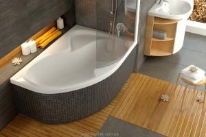 Ванна акриловая угловая Ravak коллекция Rosa II PU PLUS 150х105х45 R CJ210P0000