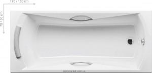 Ванна акриловая прямоугольная Ravak коллекция Sonata 180х80х47 CW01000000