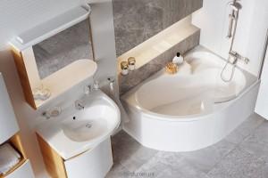 Ванна акриловая угловая асимметричная Ravak коллекция Rosa I 160х105х45 R CL01000000