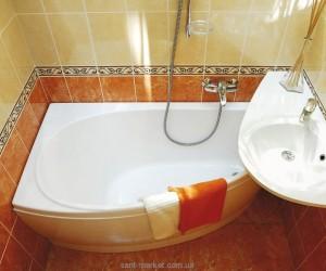 Ванна акриловая угловая асимметричная Ravak коллекция Avocado 150х75х47 L CT01000000