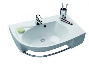 Раковина для ванной подвесная Ravak коллекция Rosa Comfort Plus белая XJ0P1100000