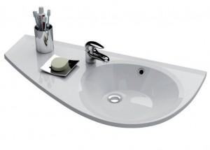 Раковина для ванной подвесная Ravak коллекция Avocado L белая XJ1L1100000