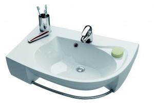 Раковина для ванной подвесная Ravak коллекция Rosa Comfort Plus белая XJ0L1100000