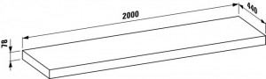 LAUFEN PALOMBA Cтолешница с алюминиевой окантовкой без отверстия 160х44х3 421003