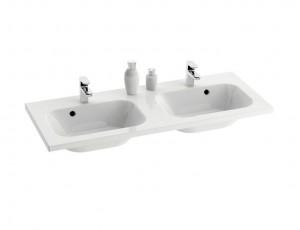 Раковина для ванной на тумбу двойная Ravak коллекция Chrome белая XJG01112000