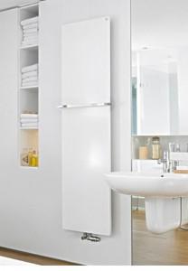 Водяной полотенцесушитель Zehnder коллекция Fina дизайнерский 700х1300х85 белый FIP-130-070
