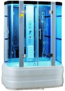 Паровой гидробокс пристенный Wisemaker WK-A09 150x90x215 с высоким поддоном