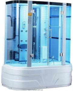 Паровой гидробокс пристенный Wisemaker WK-A10 171x90x215 с высоким поддоном