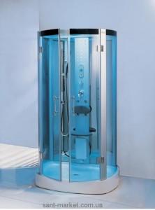 Паровой гидробокс пристенный Wisemaker WK-A05-B 120х86х215 с низким поддоном