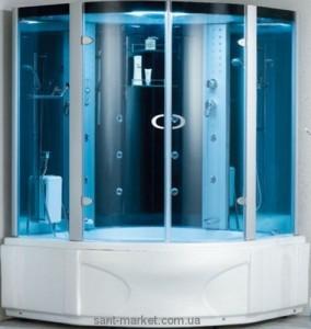 Паровой гидробокс угловой Wisemaker WK-A12-C 153х153х215 с ванной четверть круга