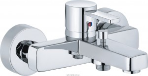 Смеситель однорычажный для ванны с коротким изливом Kludi коллекция Zenta хром 386700575