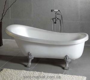 Ванна акриловая овальная Wisemaker 165х78х73 WA-1708 -C белая + львиные ноги (silver)