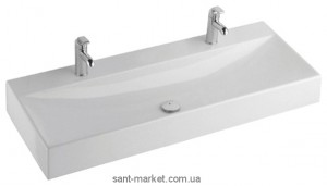 Раковина для ванной накладная двойная KOLO коллекция Quattro белая K61520900