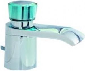 Смеситель для раковины одновентильный с донным клапаном каскадный Kludi Joop! хром/хрусталь 55023H705