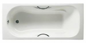 ROCA MALIBU Прямоугольная чугунная ванна с ручками и ножками 170*75 23097000R-C