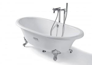 ROCA NEWCAST Овальная чугунная ванна 170*85 белая 233650007