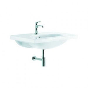 Раковина-столешница для ванной подвесная Kolo Ovum by Antonio Citterio 80х50х20 белая L41180900