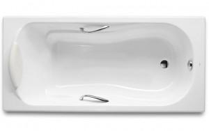 ROCA HAITI 2000 Прямоугольная чугунная ванна с ручками 170*80 23277000R-B