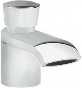 Смеситель для раковины одновентильный с донным клапаном каскадный Kludi Joop! хром/оникс 55023H805