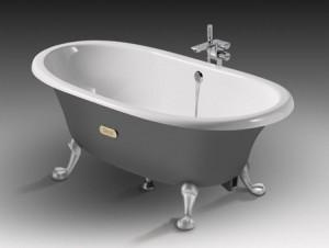 ROCA NEWCAST Овальная чугунная ванна 170*85 серая 233650000
