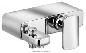 Смеситель однорычажный для ванны с коротким изливом Kludi коллекция Esprit хром 564450540