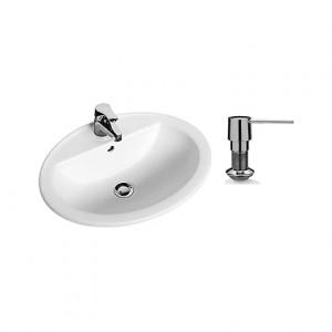 Раковина для ванной встраиваемая с дозатором для мыла KOLO коллекция Nova Top белая 99185000