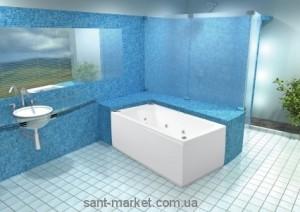 Ванна акриловая прямоугольная PoolSpa коллекция Linea 160х70х61 PWPNC..ZS000000 + рама