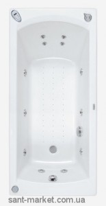 Ванна акриловая прямоугольная PoolSpa коллекция Linea 170х70х61 PWPNP..ZN000000 + ножки
