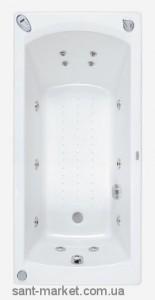 Ванна акриловая прямоугольная PoolSpa коллекция Linea 180х80х61 PWPJX..ZN000000 + ножки