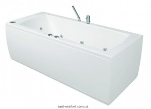Ванна акриловая прямоугольная PoolSpa коллекция Linea 180х80х61 PWPJX..ZS000000 + рама