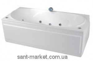 Ванна акриловая прямоугольная PoolSpa коллекция Gemini 180х80х57 PWPD9..ZS000000 + рама