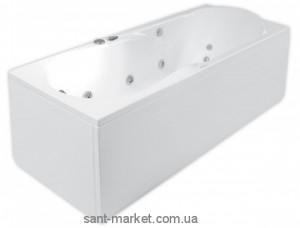 Ванна акриловая прямоугольная PoolSpa коллекция Muza 160х70х61 PWPD6..ZS000000 + рама