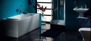 Ванна акриловая прямоугольная PoolSpa коллекция Muza 160х75х61 PWPE8..ZN000000 + ножки
