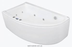 Ванна акриловая угловая PoolSpa коллекция Laura 140х80х62 L PWPNH..ZN000000 + ножки