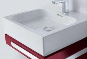 Раковина для ванной накладная Kludi коллекция Esprit белая 56W0543