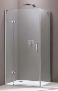 Душевая дверь в угол Huppe Aura Elegance стеклянная распашная 90х190 400302092321