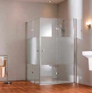 Душевая дверь в нишу Huppe Design pure 501 стеклянная распашная складывающаяся 80х200 510970092322