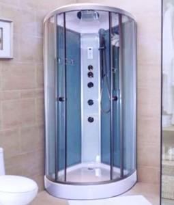 Appollo Гидромассажная кабина,мелкий поддон без пара, прозрачное стекло 900*900*2175 AW-5027