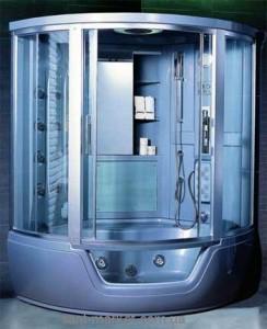Паровой гидробокс угловой Appollo Guci - 861 150х150х218 с ванной